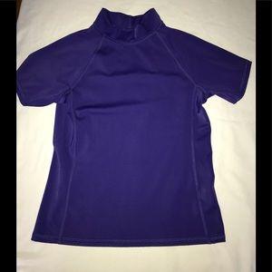 Purple Lands End swim shirt - size 8